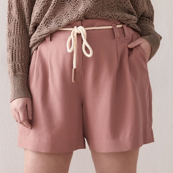 Additionelle | High-Waist Lyocell Shorts